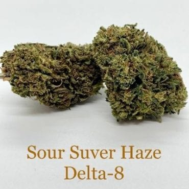 Sour Suver Haze Delta-8 THC Coated CBD Hemp Flower