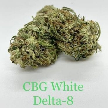 CBG White Delta-8 THC Coated CBD Hemp Flower