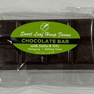 Delta-8 400mg Dark Chocolate Bar 50mg per square