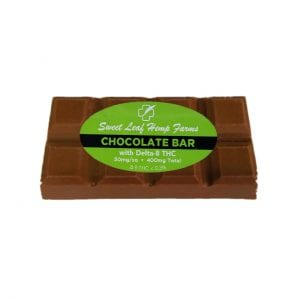 Delta-8 400mg Milk Chocolate Bar 50mg per square